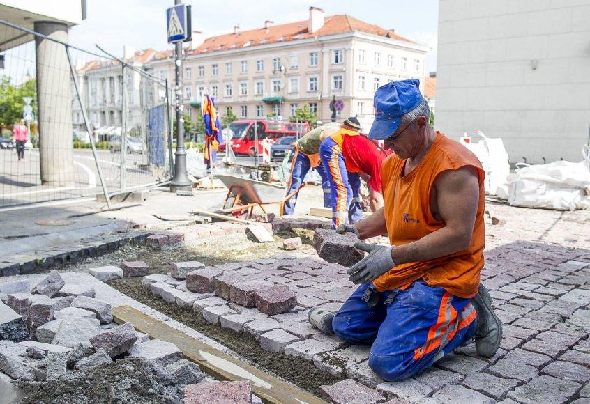 Darbai Vilniaus Rotušės aikštėje