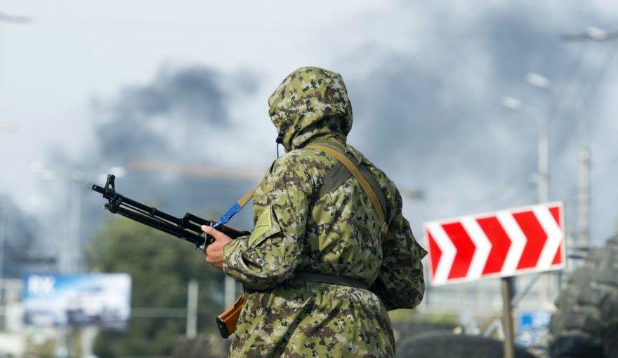 Prorusiškas teroristas netoli Donecko oro uosto
