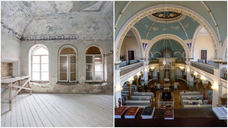 Gėlių (kairėje) ir Vilniaus choralinė sinagogos