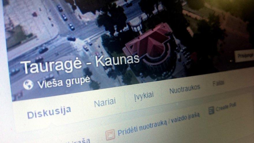 """Kelionių """"Tauragė-Kaunas"""" skelbimų vieša grupė """"Facebook"""""""
