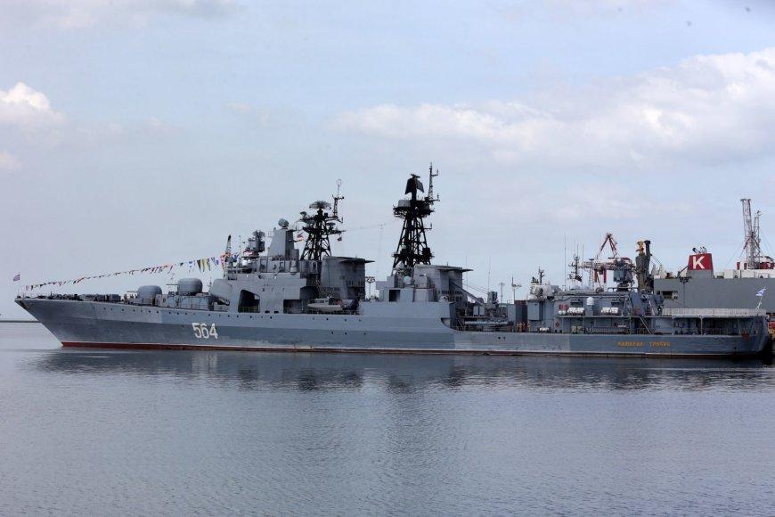 """Rusijos karo laivas """"Admirolas Tribucas"""""""