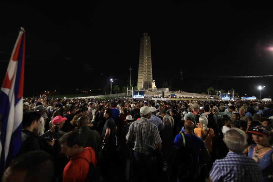 Fidelio Castro išlydėtuvės Havanoje