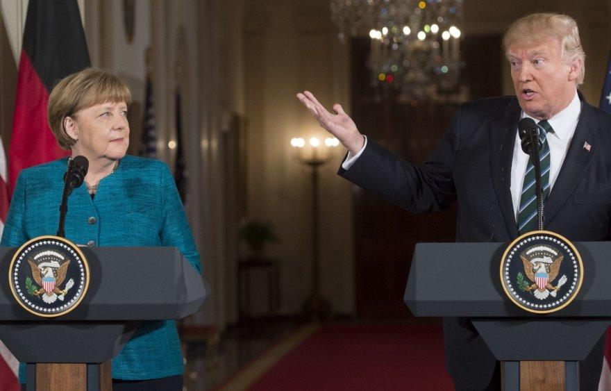 A.Merkel ir D.Trumpo susitikimas Baltuosiuose rūmuose