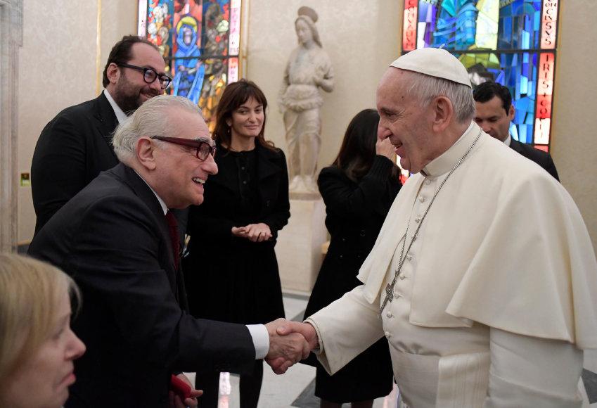 Martino Scorsese ir popiežiaus Pranciškaus susitikimas