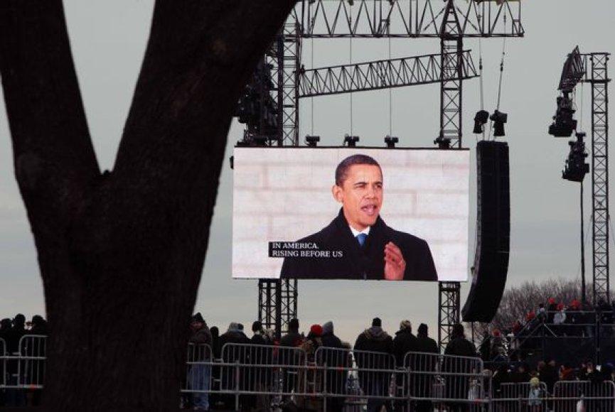Barackas Obama ekrane