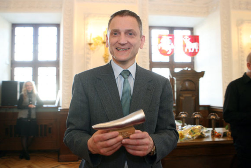 """Vicemeras Stanislovas Buškevičius, pelnęs alternatyvųjį apdovanojimą """"Nikeliuoti ragai"""" kaip """"Metų žmogus""""."""