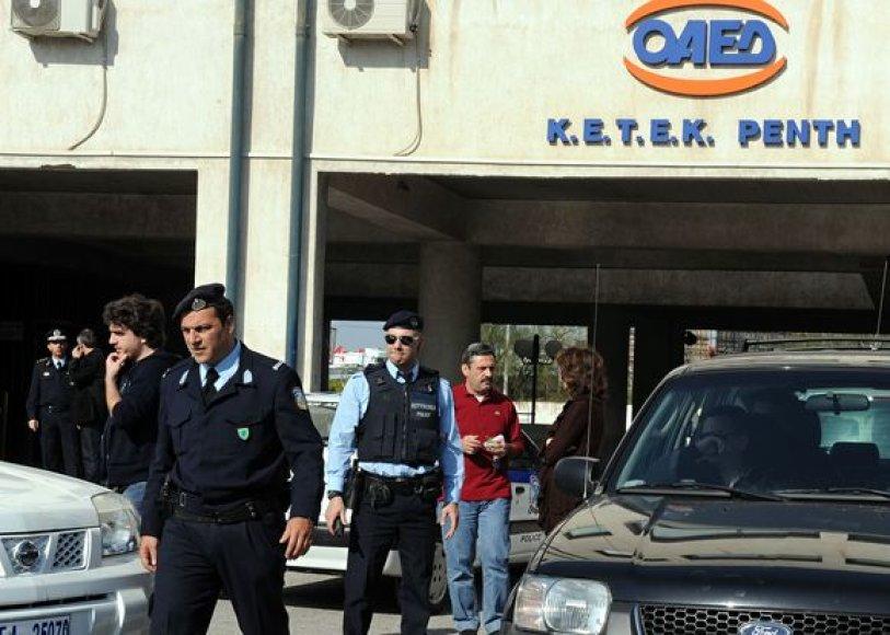 Policininkai įvykio vietoje.
