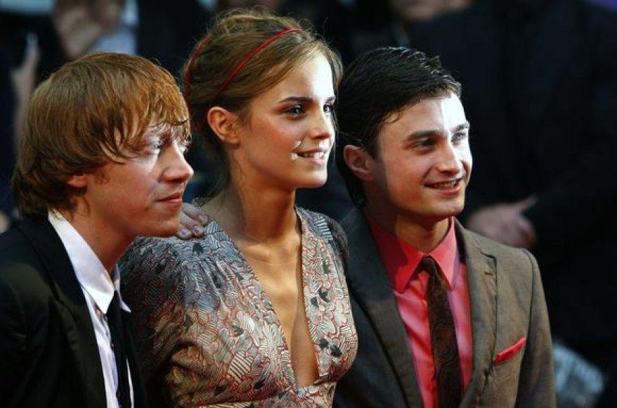 Rupertas Grintas, Emma Watson ir Danielis Radcliffe`as
