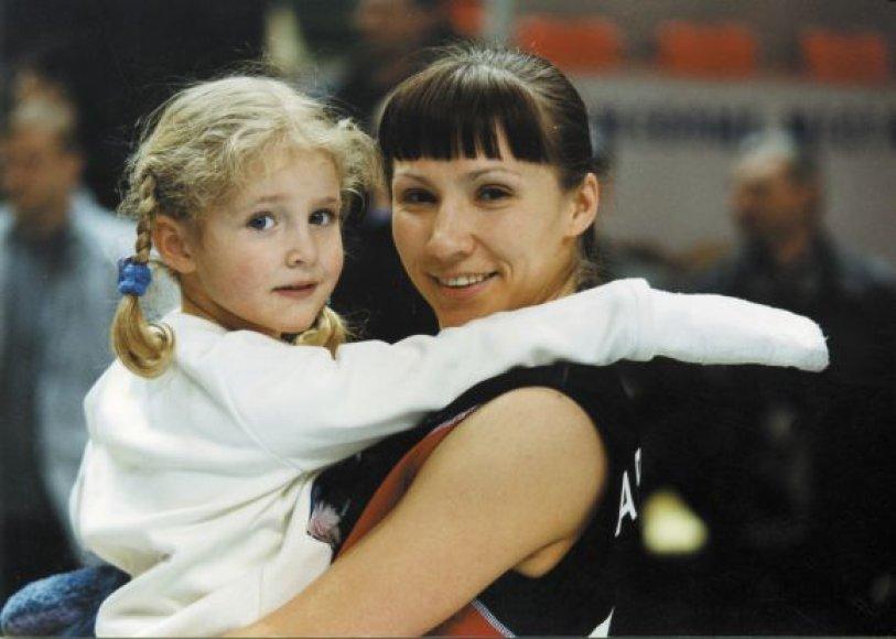 Š.Kalmanovičiaus žmona Ana ir dukra Danečka