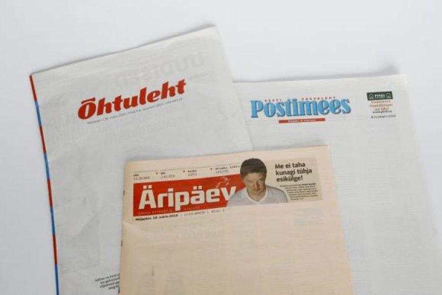 Estijos dienraščių viršeliai
