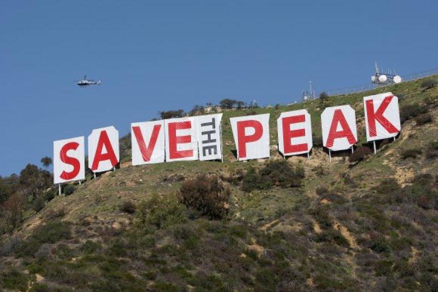 Ženklą norintys išsaugoti aktyvistai surengė akciją