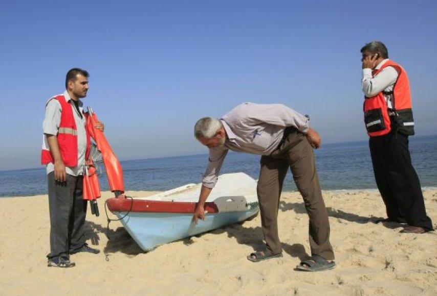 Palestinos žvejai šalia Gazos ruožo