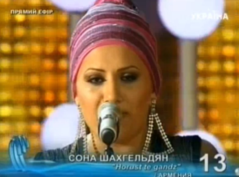 Festivalio nugalėtoja Sona iš Armėnijos