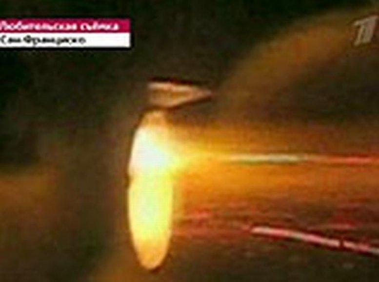 Ore sprogo lėktuvo variklis