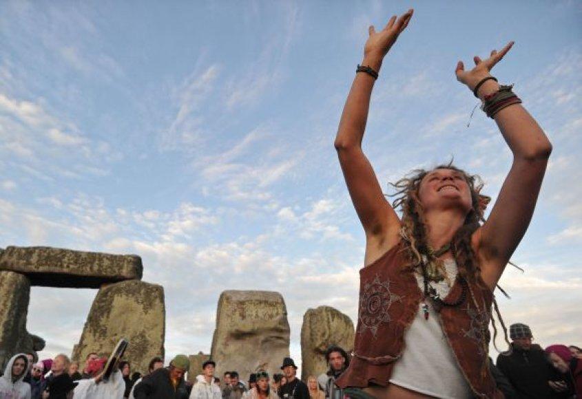 Pagonių šventė Stonehenge, pietų Anglijoje