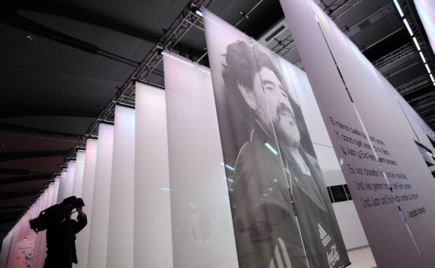 Maradonos knygos reklama Frankfurto knygų mugėje
