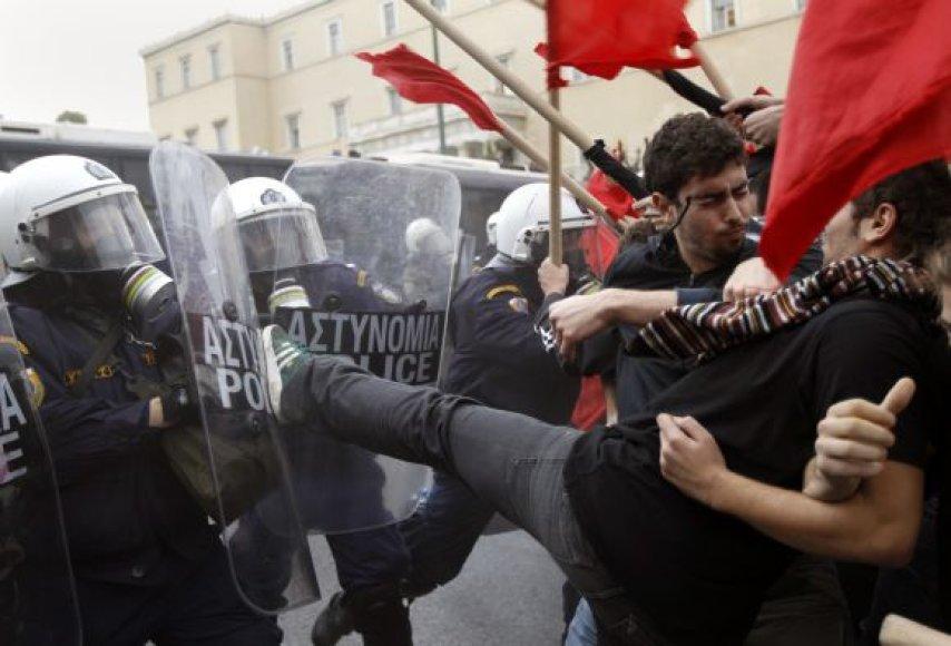 Studentų protestas Graikijoje