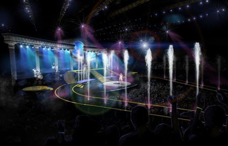 """Kylie Minogue šou išskirtinė zona (""""Splash zone"""")"""