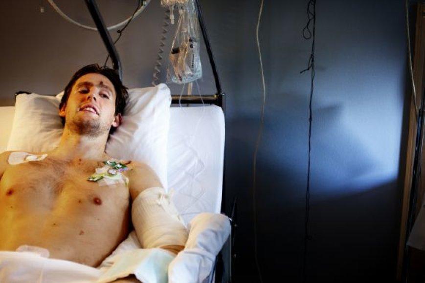 Stebuklingai išsigelbėjęs Eivindas Thoresenas gydosi ligoninėje