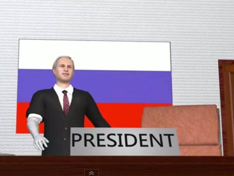 Kadras iš taivaniečių filmuko apie V.Putiną