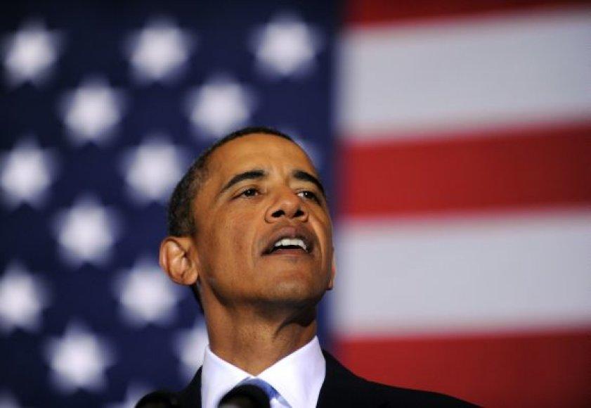 Prezidentas B.Obama Luizianoje sako kalbą