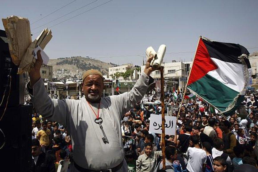 Palestiniečiai paminėjo Katastrofos dieną.