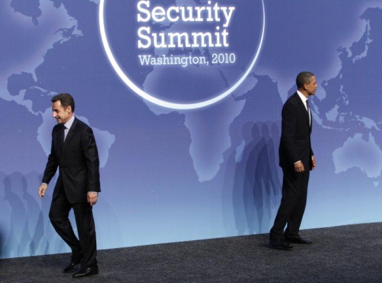 Nicolas Sarkozy ir Barackas Obama