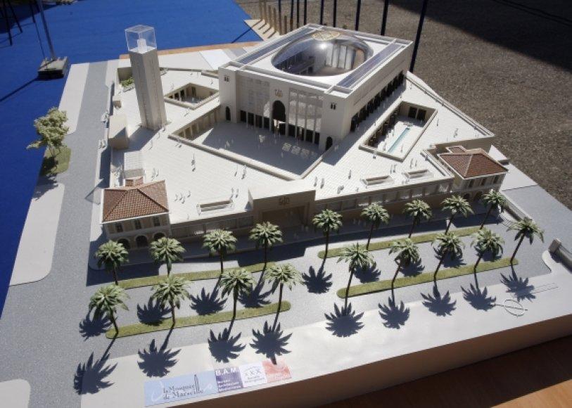 Marselyje iškilsiančios mečetės maketas