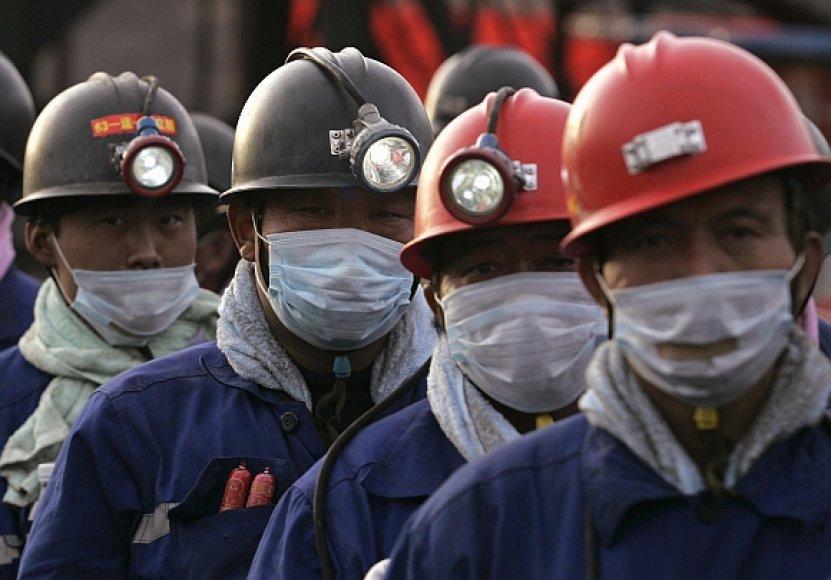 Kinijos šachtininkai