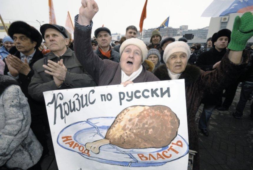 Rusijos pensininkai nėra patenkinti savo padėtimi
