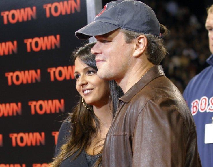 Mattas Damonas su žmona Luciana