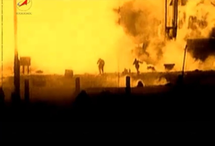 Raketos R-16 katastrofos akimirka
