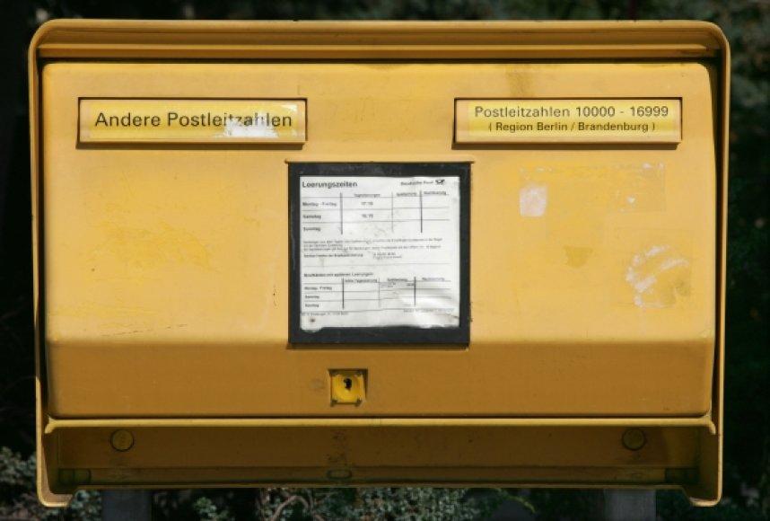 """Deutsche Post DHL"" pašto dėžutė"