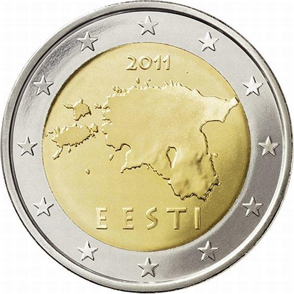 Estiška dviejų eurų moneta