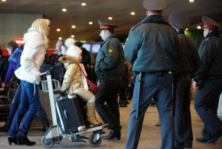 Milicininkai Domodedovo oro uoste