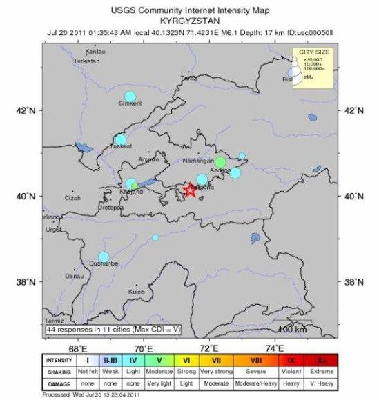 Žemės drebėjimas Ferganos slėnyje
