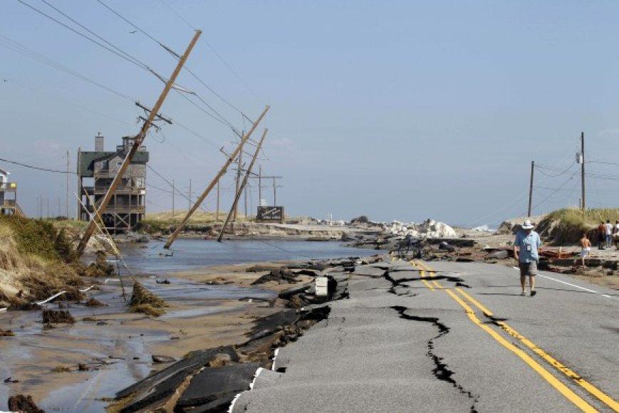 Uragano Irena pasekmės Šiaurės Karolinoje