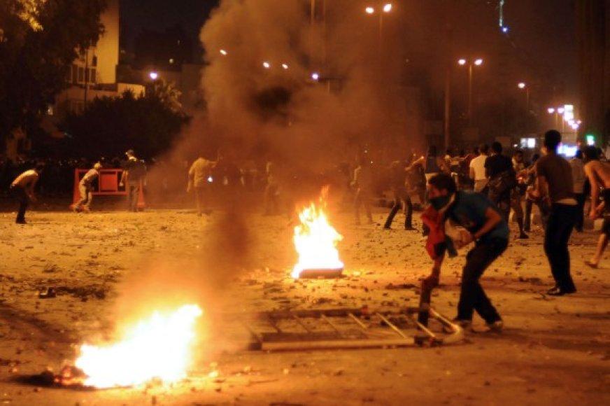 Protestuotojai prie Izraelio ambasados Kaire
