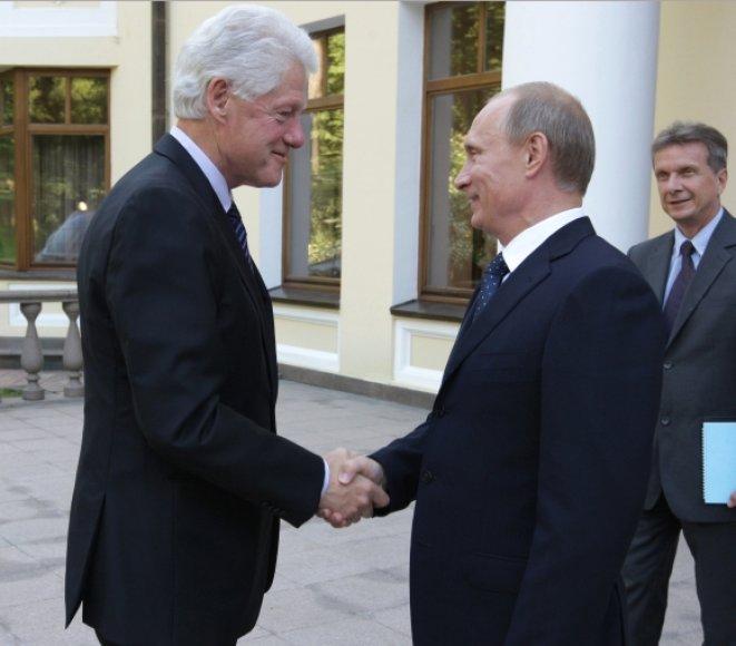 Billas Clintonas ir Vladimiras Putinas