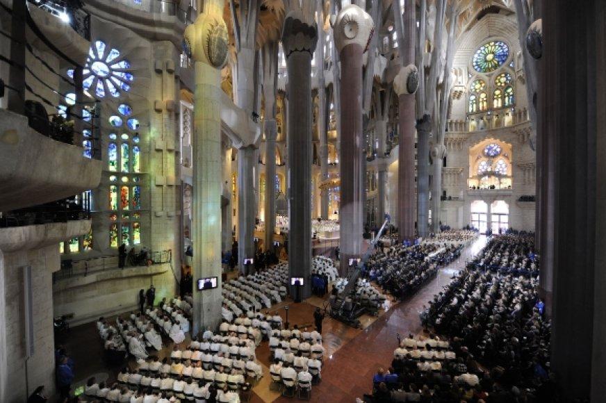 Barselonos Šventosios Šeimynos bažnyčios konsekravimo iškilmės