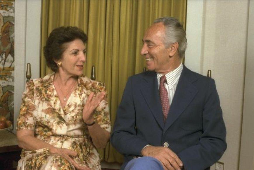Shimonas ir Sonia Peresai (1984 m. fotografija)