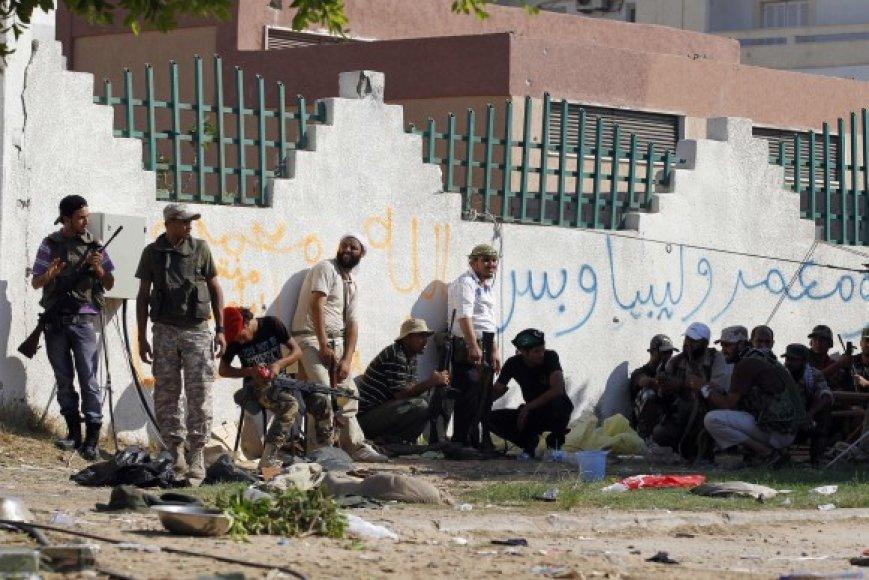 Libijos sukilėliai Tripolyje