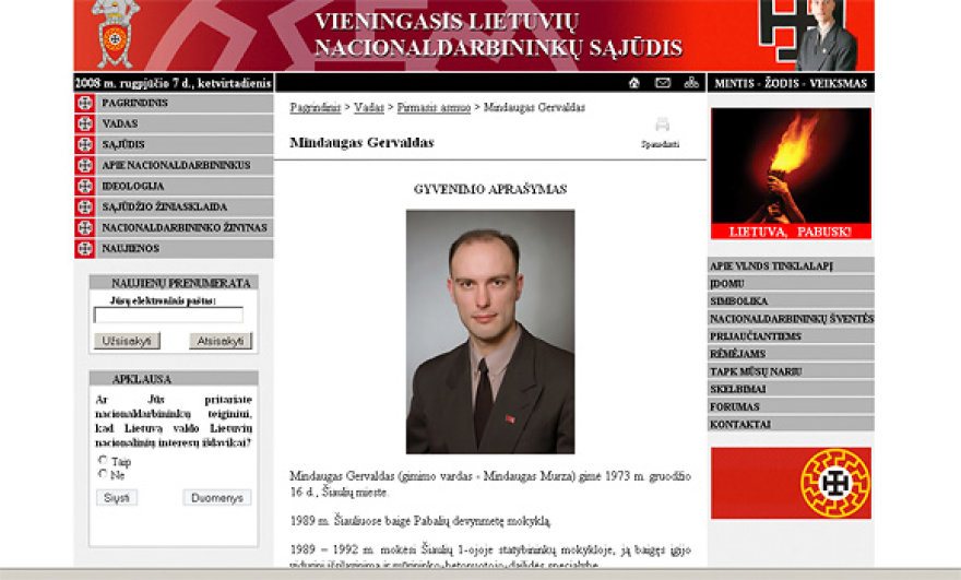 VLNS tinklalapis