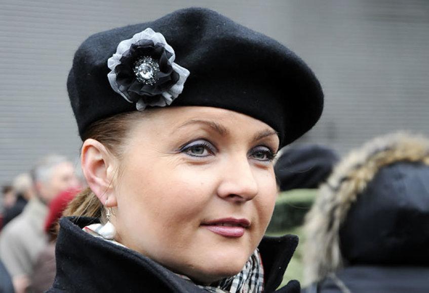 Jolanta Paulauskienė mitinge prie Seimo