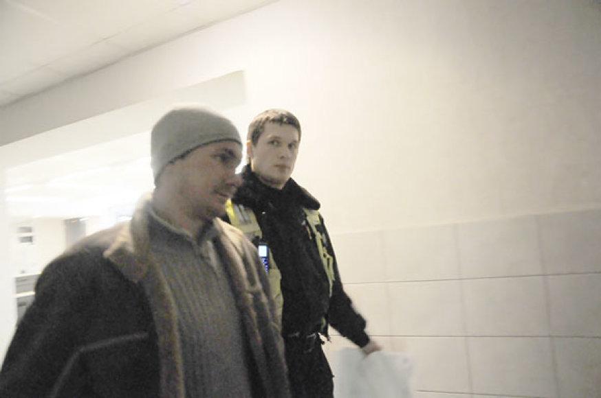 Ernestas Aleksonis Vilniaus kelių policijoje