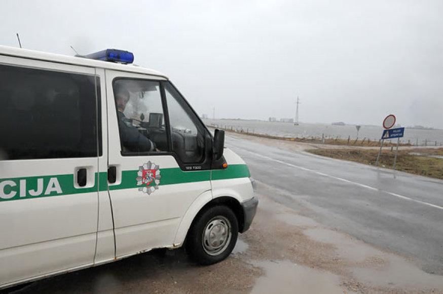 Policija kelyje į Rusnę