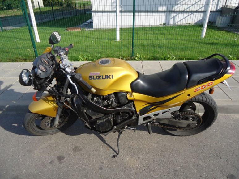"""Sulaikytas motociklas """"Suzuki"""""""