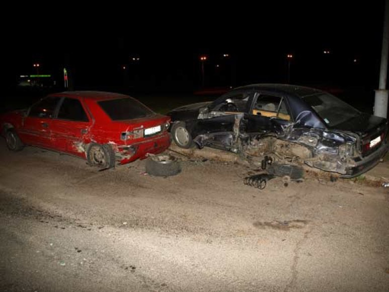Įvykio vietoje po avarijos