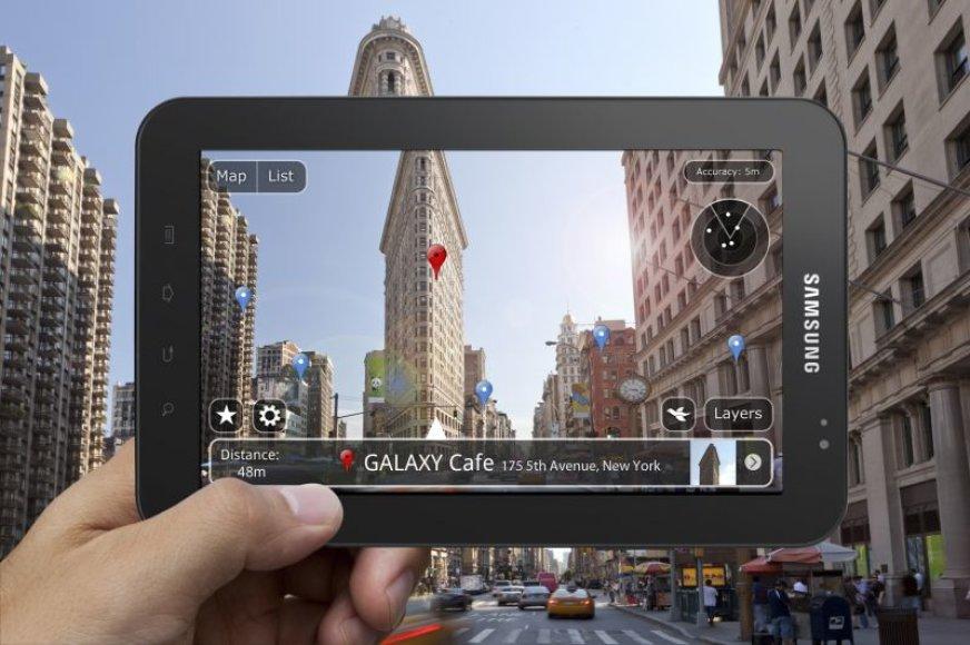 """""""Samsung Galaxy Tab"""" – dar daugiau galimybių."""