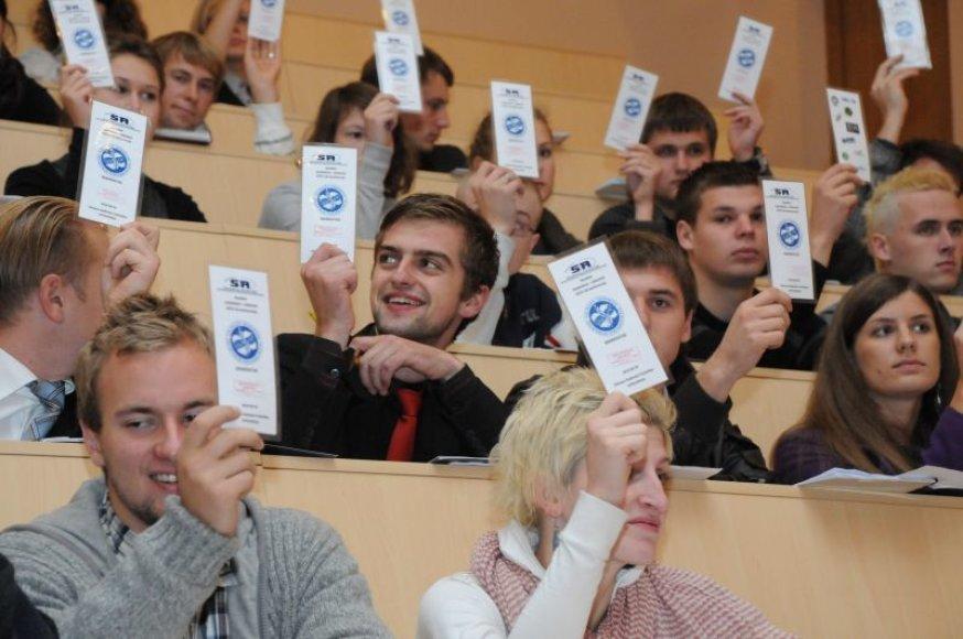 Išrinkus VGTU Rektorių savo vadovą keičia ir Studentų atstovybė.